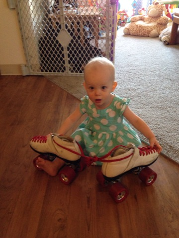 'I want to roller skate, Mom!'