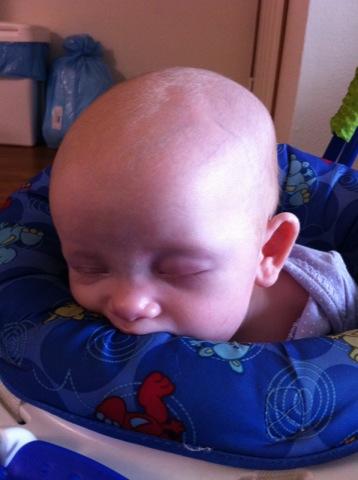 Asleep in the Jumperoo