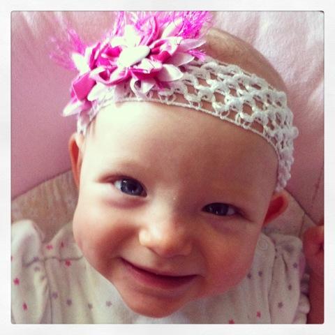 Pretty smile with a pretty headband